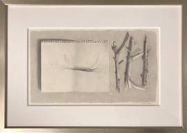 Lowell Tolstedt 'Branches with Branch Study', 1983 Graphite 8 ¾ x 14 ¾ inches      $3,700
