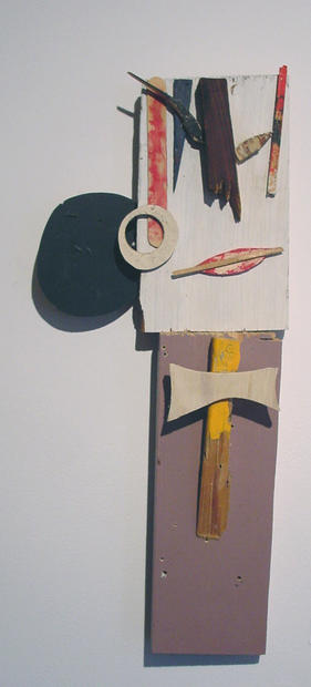 Tamara Jaeger 'Bow Tie Woman', 2001 Painted wood and found wood assemblage 20 x 9 x 2 inches   $950