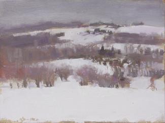 Neil Riley 'Danville, Winter', 2009 Oil on panel 6 x 8 inches  $800
