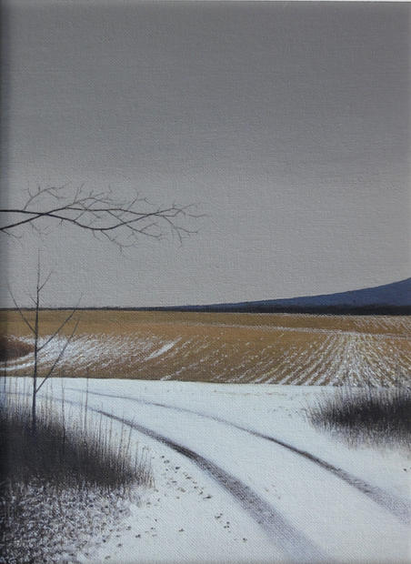 Alan Gough  'Veering North', 2020 Oil on panel 12 x 9 inches  $1,000