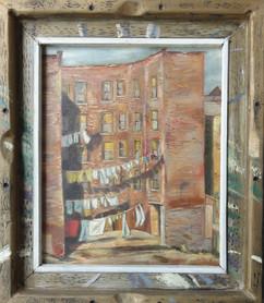 """New York Street Scene"", 1952 Oil on canvas/board 24 x 20 inches P.O.R."