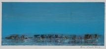Eric Barth (Contemporary) 'Coastline', 2019 Oil pastel and soft pastel on paper 1 3/4 x 4 1/4 inches  $500