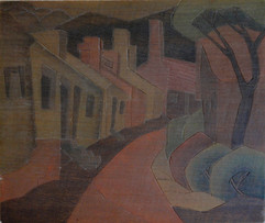 Old White Art Colony Grace Martin Taylor Woodblock/ Side 2 Block cut 1935 12 x 13 3/4 inches