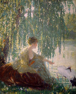 """""""Weeping Willows"""", c. 1910-14 Oil on canvas 40 x 32 inches P.O.R."""