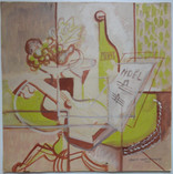 Still Life with Lute, 1933 Gouache on paperboard 17 x 17 inches  $3,500.00
