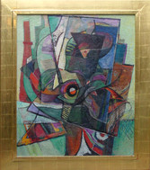 """Arthur B. Carles """"Abstraction"""", c. 1930-1940 Oil on canvas 36 1/4 x 20 3/4 inches"""