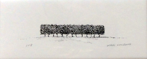 Marc Lincewicz 'Untitled, Row of Trees', n/d Ink on paper 3 1/8 x 7 1/8 inches $450