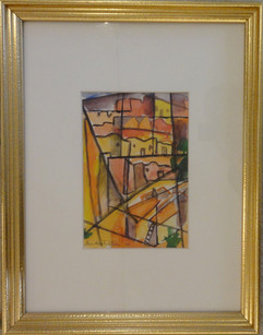 Taos Grace Martin Taylor 1950 Watercolor on paper 8 1/2 x 5 5/8 inches Signed and dated lower right.  $1,200.00 On Hold