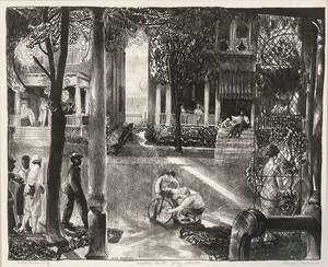 """""""Sixteen East Gay Street"""", 1923-24 Lithograph on paper 9 5/8 x 11 7/8 inches"""
