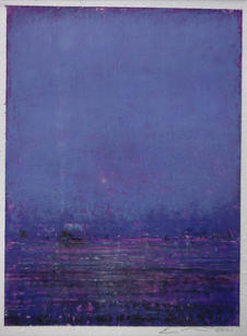 """Eric Barth """"The Half-light"""", 2021 Oil pastel and soft pastel on paper 4 ¾  x 3 ½ inches $650"""
