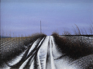 Alan Gough 'Going South', 2020 Oil on panel 9 x 12 inches  $1,000