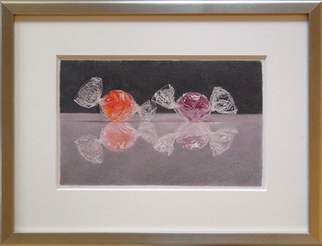 Lowell Tolstedt 'Two Wrapped Candies' Colored pencil 6 1/4 x 9 5/8 inches  $2,500