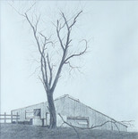 Willard Reader 'Ridgeline Barn', 2020 11 3/4 x 11 3/4 inches  $400