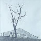 Willard Reader 'Ridgeline Barn', 2020 11 3/4 x 11 3/4 inches  $400