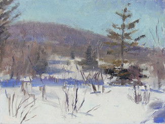 Neil Riley 'Winter January', 2009 Oil on panel 6 x 8 inches  $850