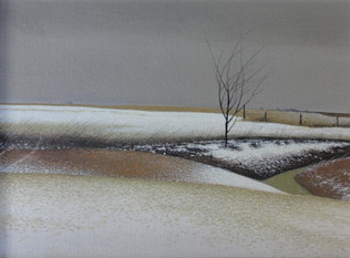 Alan Gough 'Tarlton Terrain', 2020 Oil on panel 9 x 12 inches  $1,000