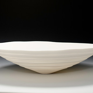 Carol Snyder (Contemporary) 'Rotated Fields', 2017 Wheel thrown porcelain 3 x 13 inches  $1,200
