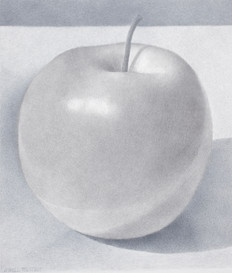 Lowell Tolstedt 'Composition with Big Apple', 2015 Goldpoint and silverpoint 6 3/4 x 5 3/4 inches  $1,650