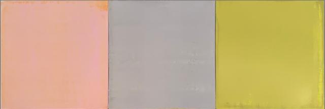 """Stephen Pentak """"IX.III"""", 2019 Oil on panel 14 x 42 inches  $3,800"""