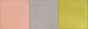 """Stephen Pentak """"IX.III"""" 2019 Oil on panel 14 x 42 inches $3,800"""