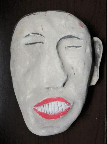 Tamara Jaeger 'Like Jacquy B.', 1991 Ceramic and paint 6 1/2 x 5 x 1 1/2 inches  $450