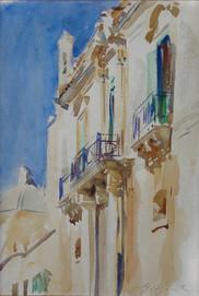 """""""Facade of a Palazzo, Girgenti, Sicily"""", c. 1901 Watercolor 10 x 7 inches P.O.R."""