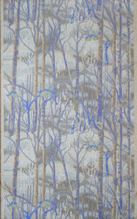"Charles Burchfield (1893-1967) ""Birches"", 1921  Wallpaper swatch 30 x 20 inches Birge #1186   P.O.R."