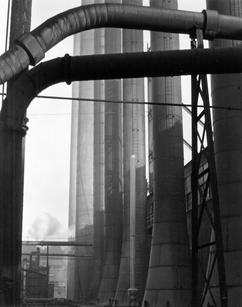 """Edward Weston* (1886-1958) """"Armco Steel,Ohio"""",1922 *Photo taken in Ohio when visiting his sister. Gelatin silver print mounted on board 9 3/8"""" *7 3/8 """" inches Signed and printed by Cole Weston  P.O.R."""