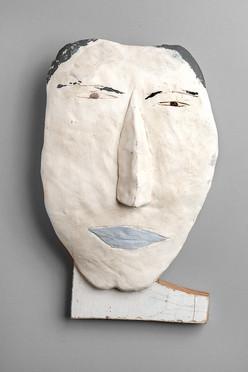 Tamara Jaeger 'Japanese Woman', c. 1993 Ceramic and found wood 11 x 8 x 2 1/2 inches  $700