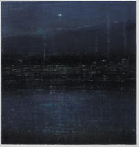 """Eric Barth """"The End Of Day"""", 2021 Oil pastel and soft pastel on paper 10 ¼ x 9 ¾ inches  $1,650"""