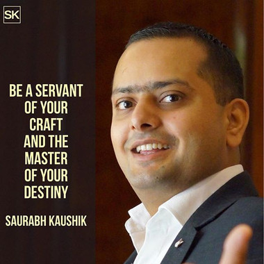Be a servant of your craft and the maste