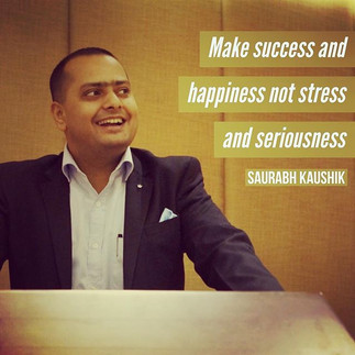 Make success and happiness not stress an