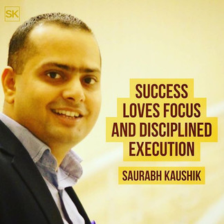 Success loves focus and disciplined exec