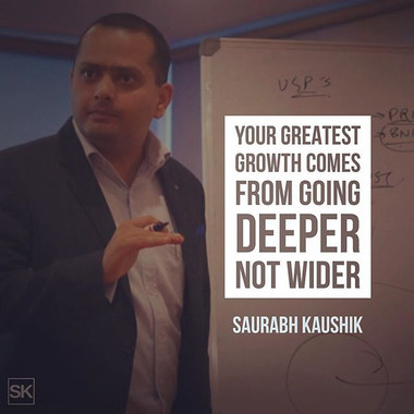 Your greatest growth comes from going de