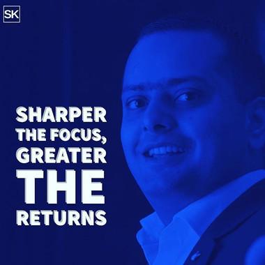 Sharper the #focus greater the #returns