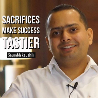 Sacrifices make success tastier _#people