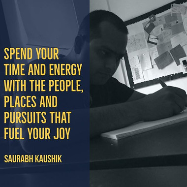 Spend your time and energy with the peop