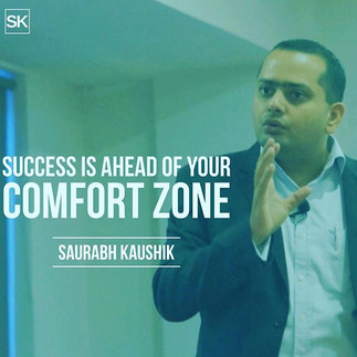 Success is ahead of your comfort zone _#