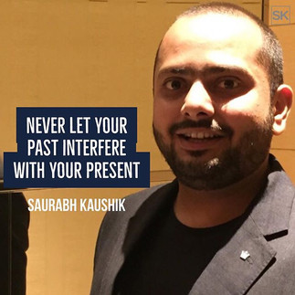 Never let your past interfere with your