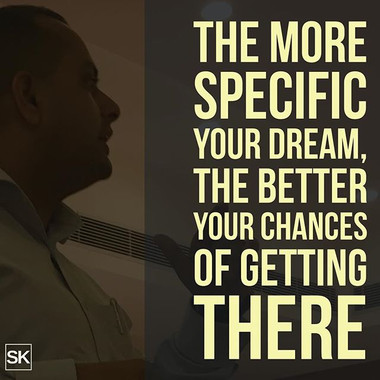 The more specific your #DREAM, the bette