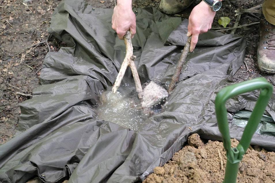 Wasseraufbereitung beim Überlebenstraining