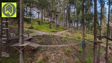Hochseilgarten 360 Grad Kletterwald virt