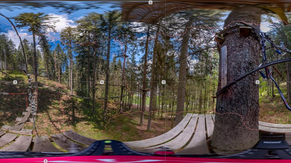 Zusammensetzen eines 360 Grad Panoramas für die virtuelle Besichtigung