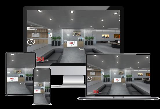 Virtueller Rundgang auf verschiedenen Devices konarek360.com