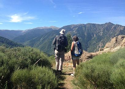 People walking in mountains