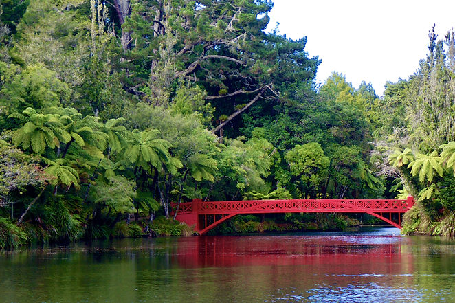 Red Bridge at Pukekura Park New Plymouth