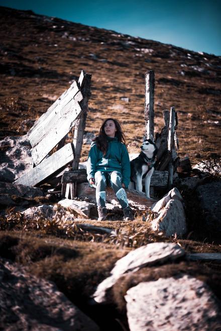 Amandine et Orya vers le pic d'Orhy