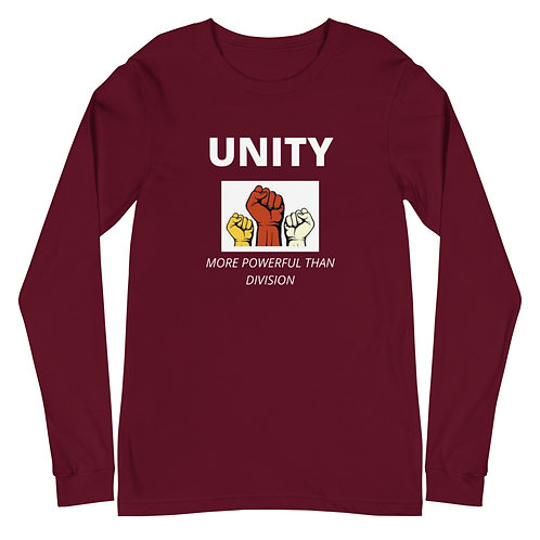 Unity Is More Powerful BW Long Sleeve T-Shirt