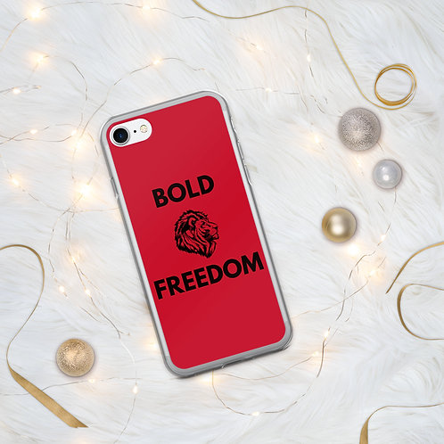 Bold Freedom Alpha III Red iPhone Case