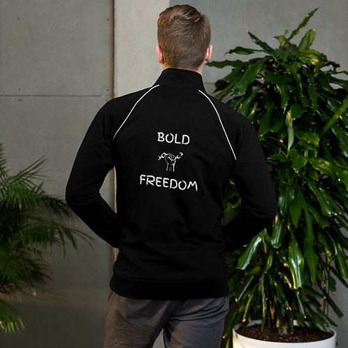 Bold Freedom Original White Piped Fleece Jacket